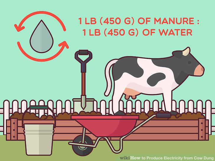 How to produce electricity. Poop clipart cow pat