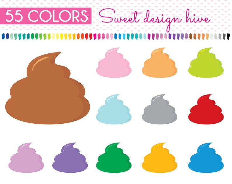 Poo dog emoji graphics. Poop clipart icon