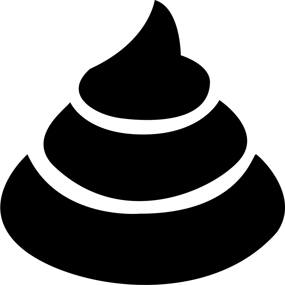 Poop clipart outline. Png black and white