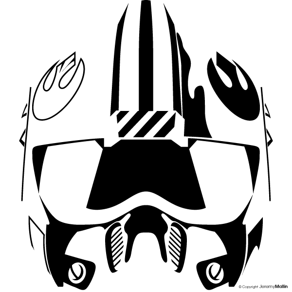 Rebel vector by jeremymallin. Starwars clipart stencil