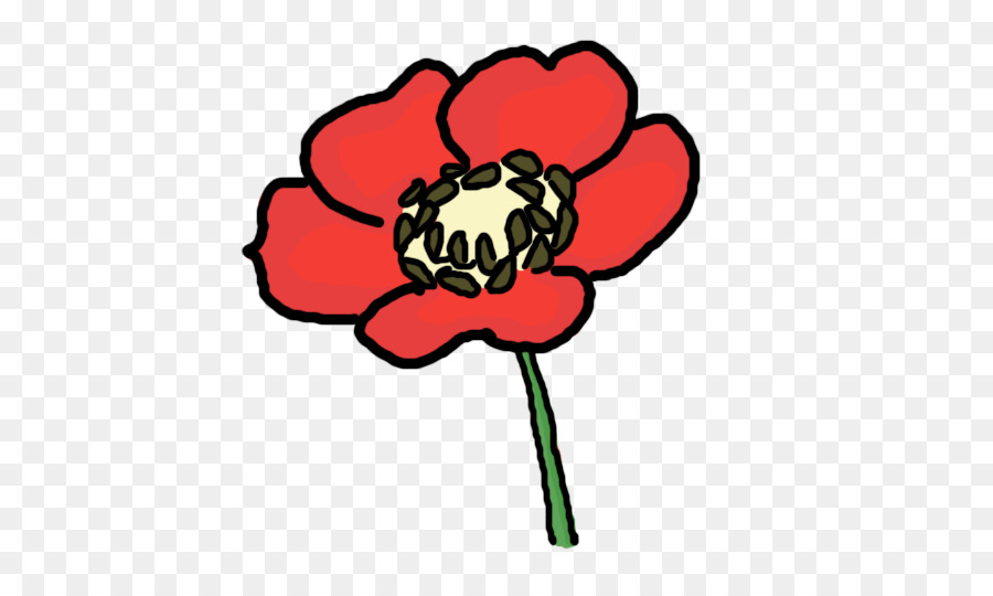 Draw flowers remembrance drawing. Poppy clipart