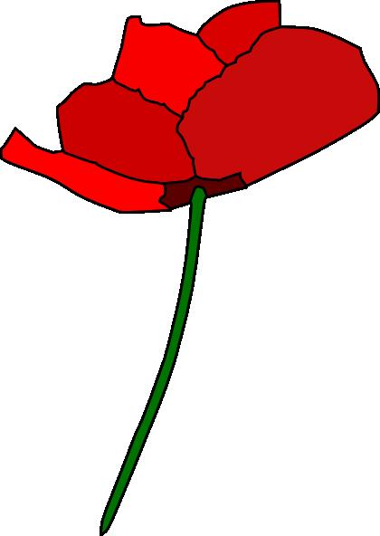Flower clip art at. Poppy clipart animated