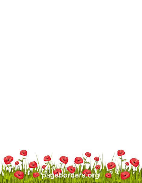 Poppy clipart border. Frames borders page