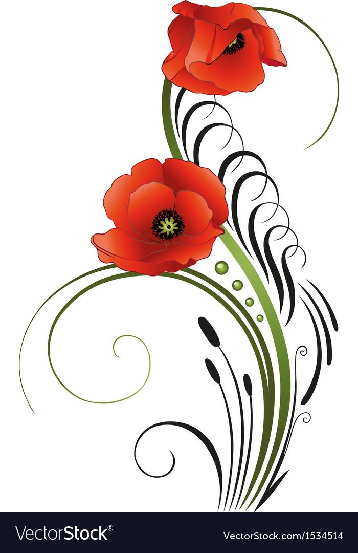 Free download clip art. Poppy clipart border paper