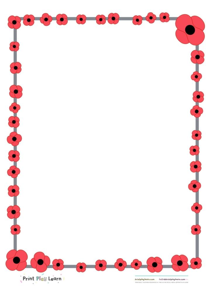 Poppy clipart border paper. Free download clip art