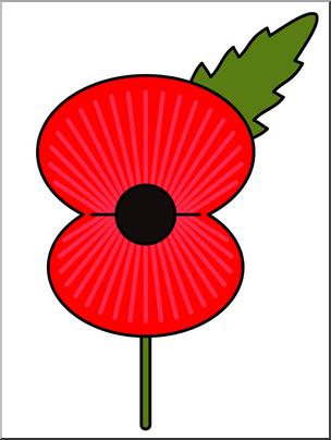 Clip art graphic i. Poppy clipart color