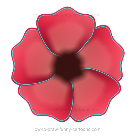 Poppy clipart colour outline. How to draw a