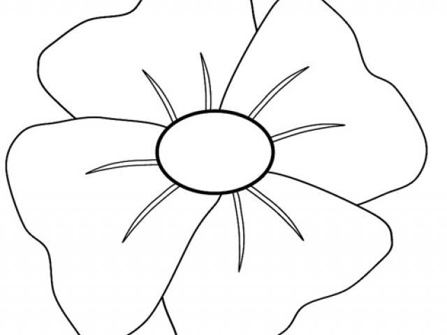 Free download clip art. Poppy clipart colour outline