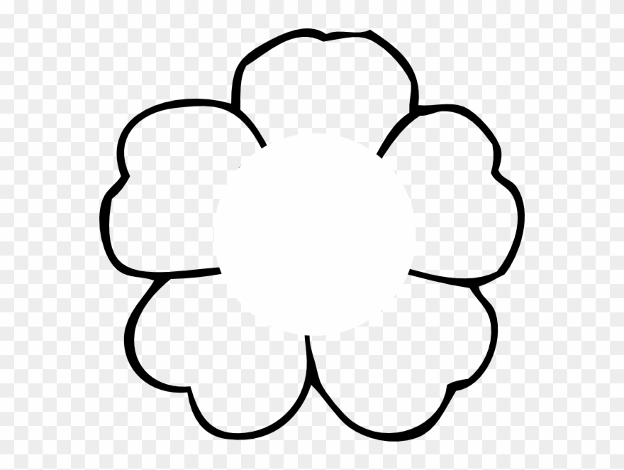 Poppy clipart easy. Flower outline to print