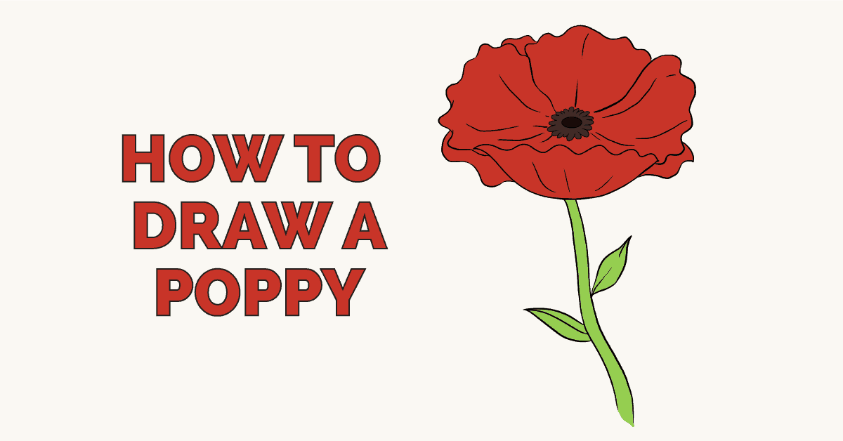 How to draw a. Poppy clipart easy