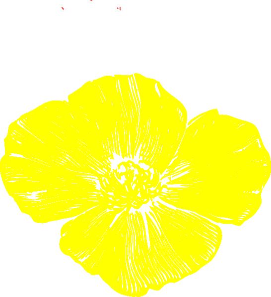 Yellow Poppy Clip Art at Clker