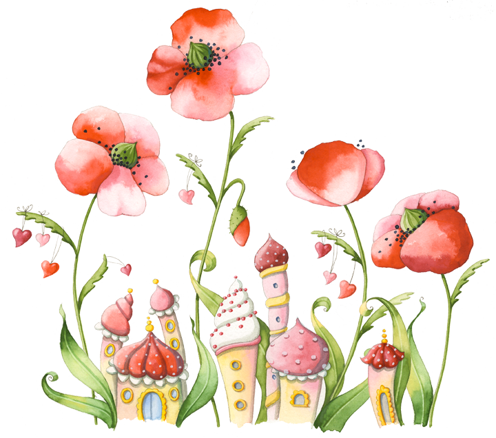 Poppy clipart illustration. Mohnwiese png tavasz pinterest