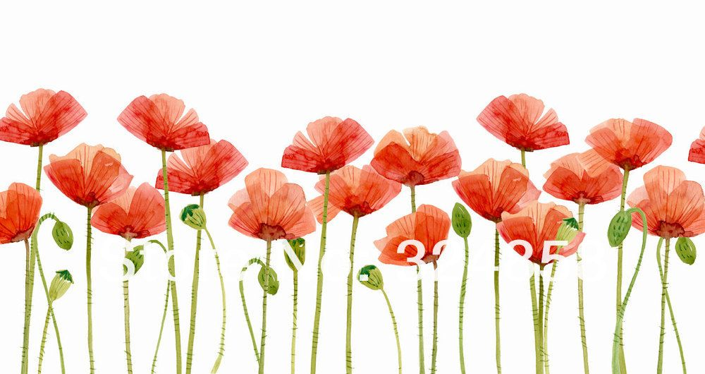 Clip art flower painting. Poppy clipart kid