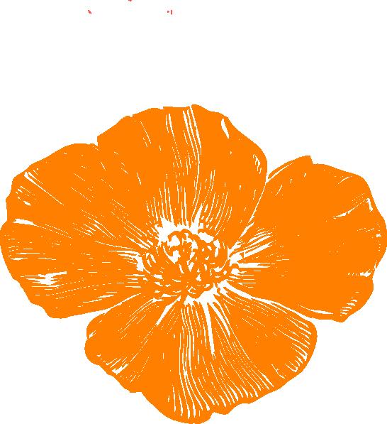Orange clip art at. Poppy clipart large
