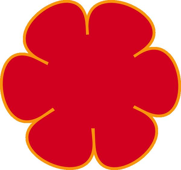 Poppy clipart large. Red orange flower clip