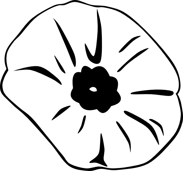 Poppy clipart large. Outline clip art at