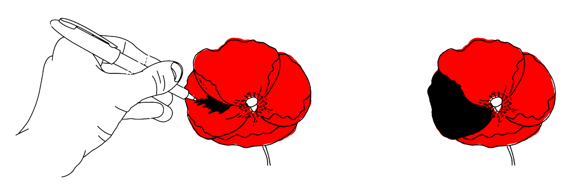 Poppy clipart lest we forget. A billion people blackpoppy