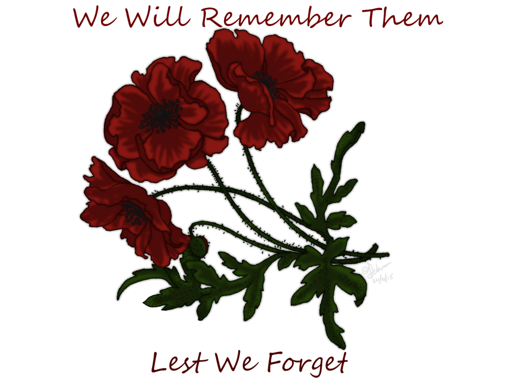 Lest we by akane. Poppy clipart never forget
