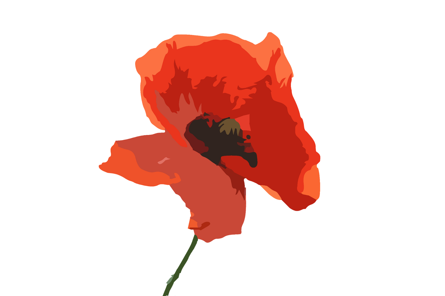 Poppy clipart poppy flower. Ftestickers art watercolor report