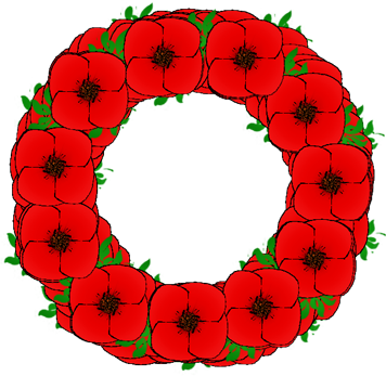 Poppy clipart poppy wreath. With leaves