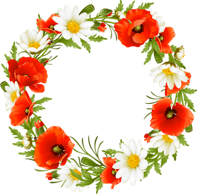 Pontiac s rebellion an. Poppy clipart poppy wreath