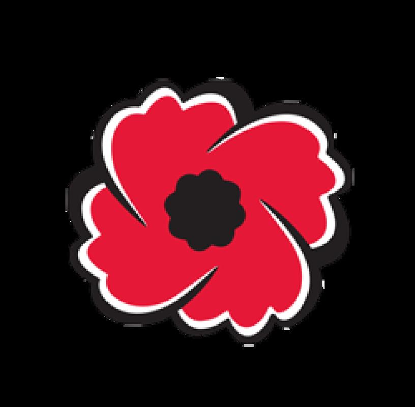 Poppy clipart remembrance sunday. Royal canadian legion leduc