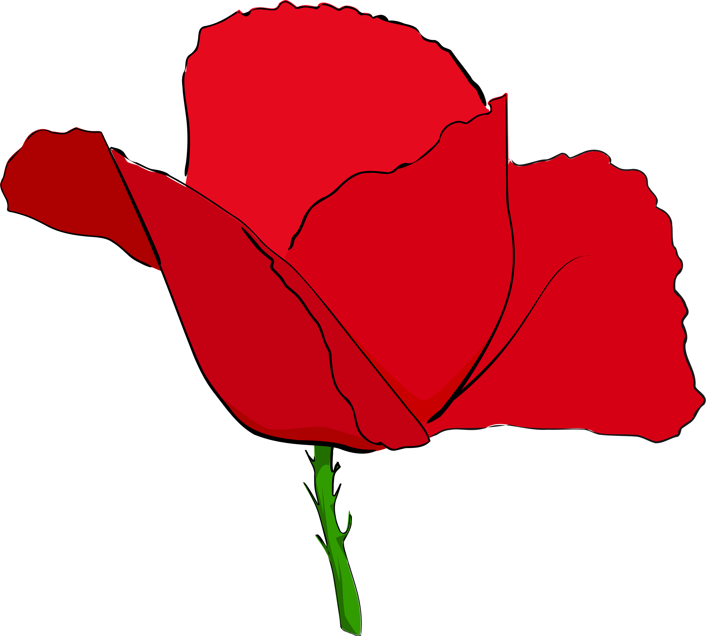 Coquelicot rouge red big. Poppy clipart small