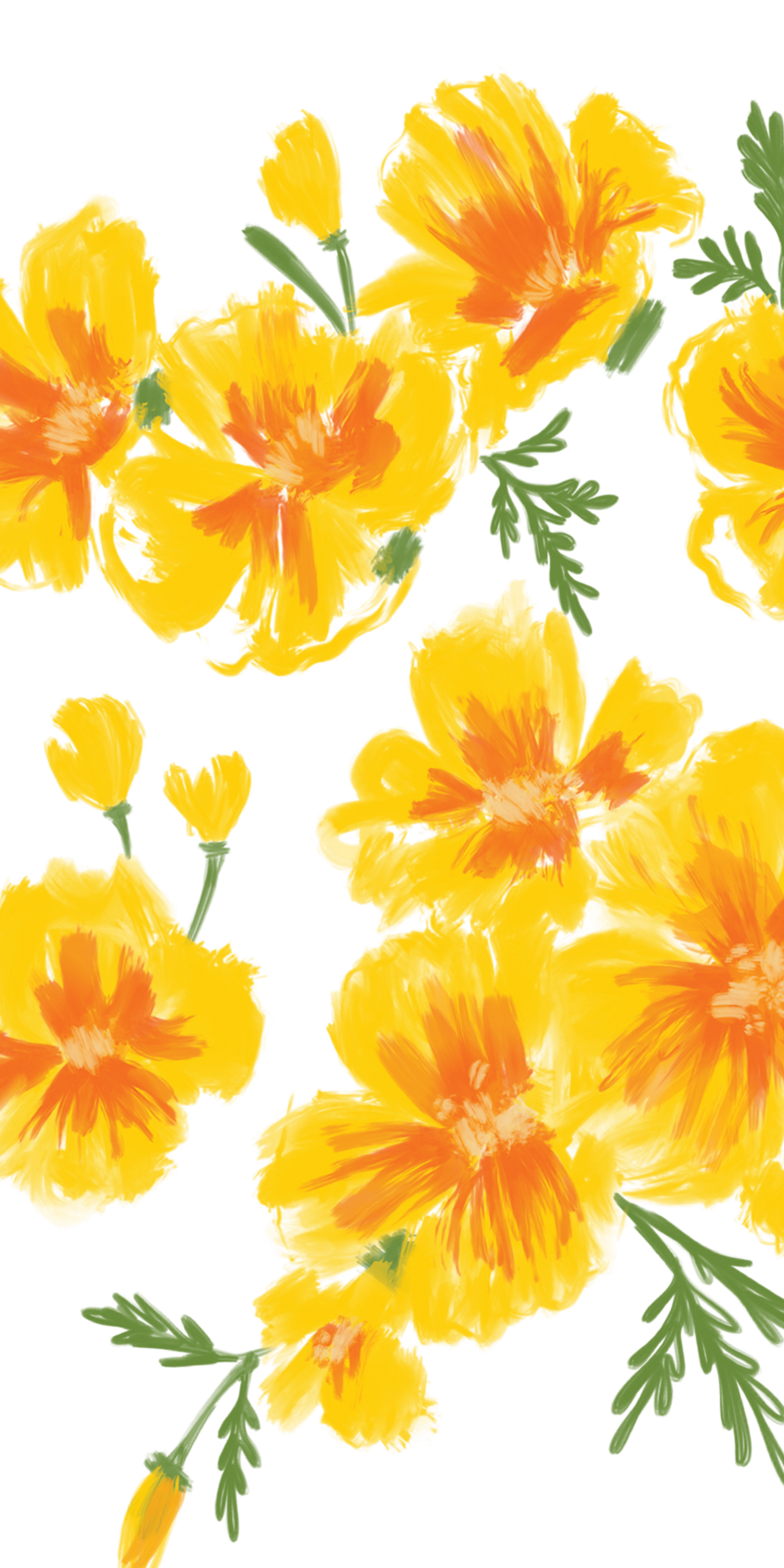 Poppy clipart solid flower. Yellow poppies casetify iphone