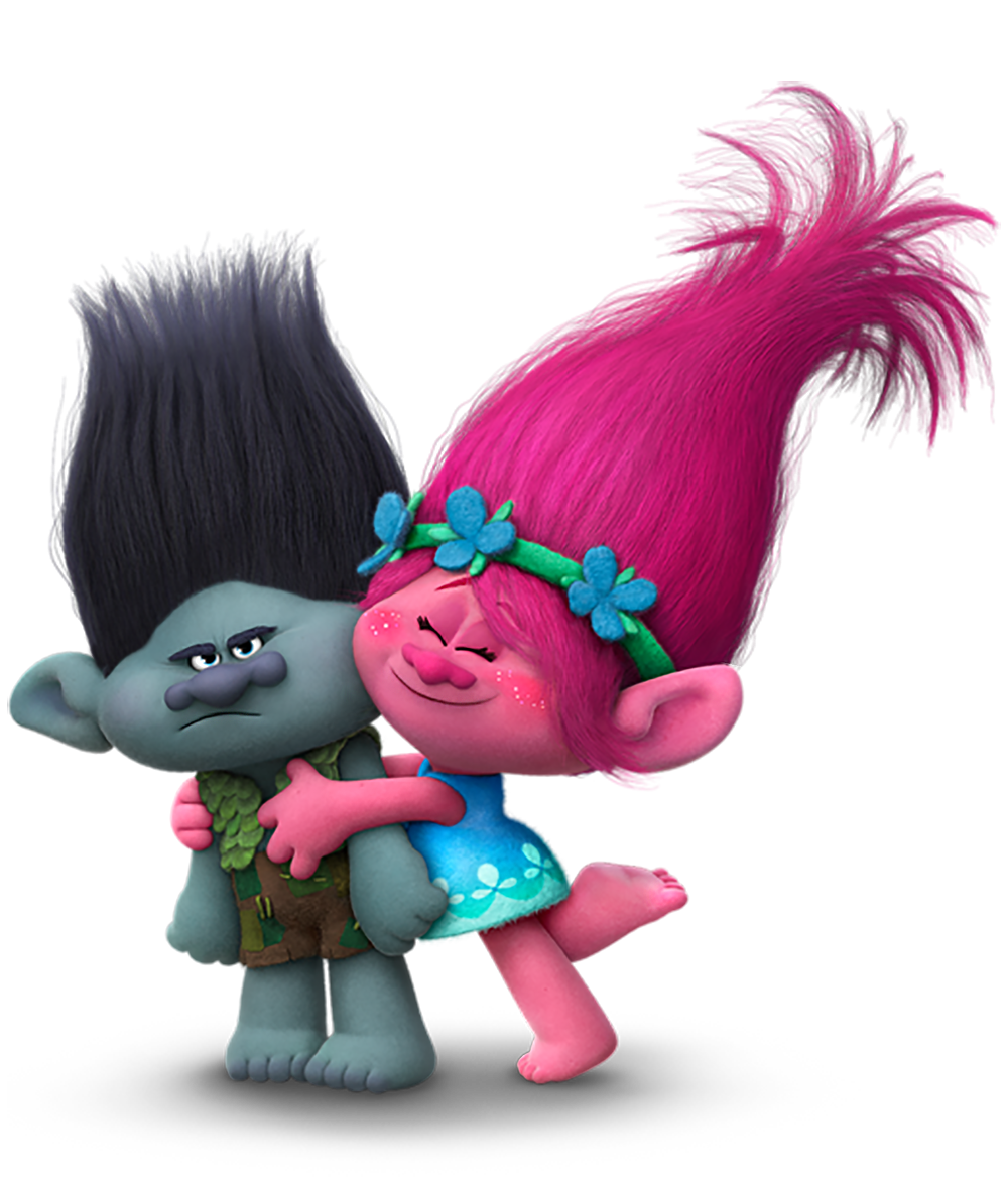 Trolls branch and png. Poppy clipart transparent background