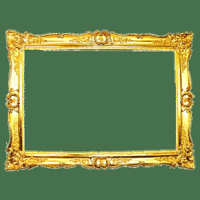 Thin vintage transparent stickpng. Portrait frame png