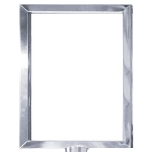 Polished stainless steel a. Portrait frame png