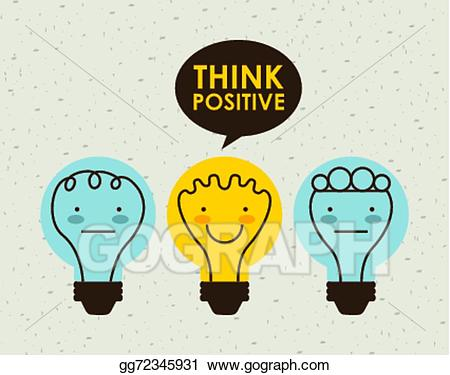 Vector art think design. Positive clipart