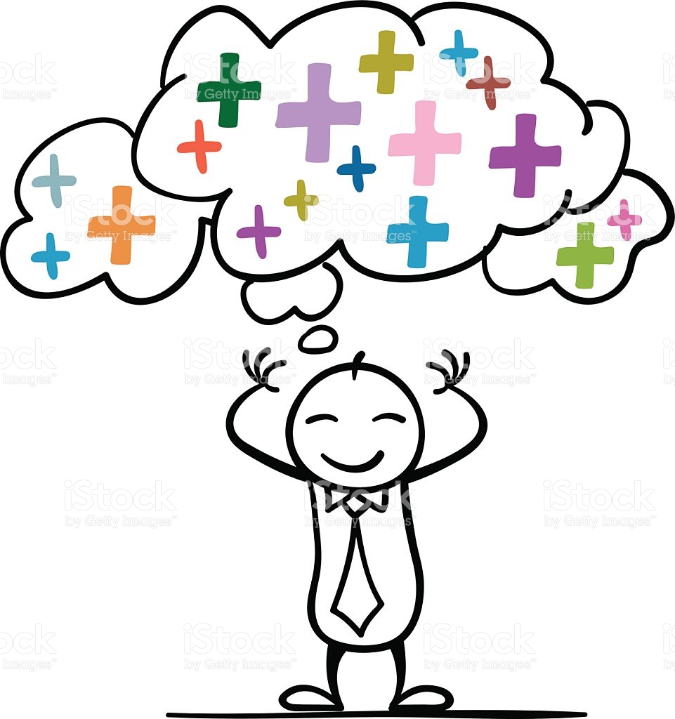 Positive clipart.  collection of thinking