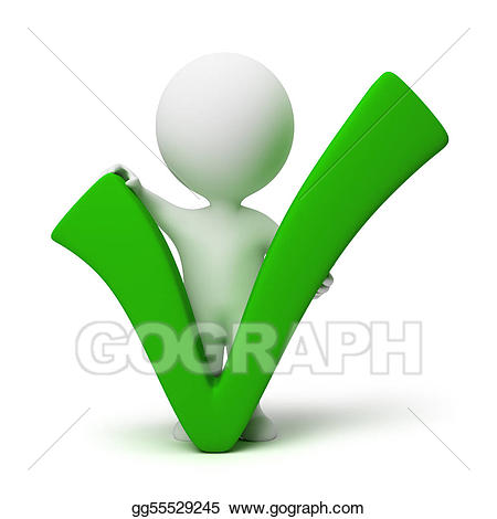 Stock illustration d small. Positive clipart