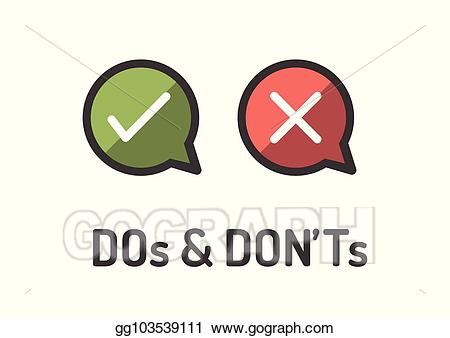 Positive clipart bad. Vector art do and