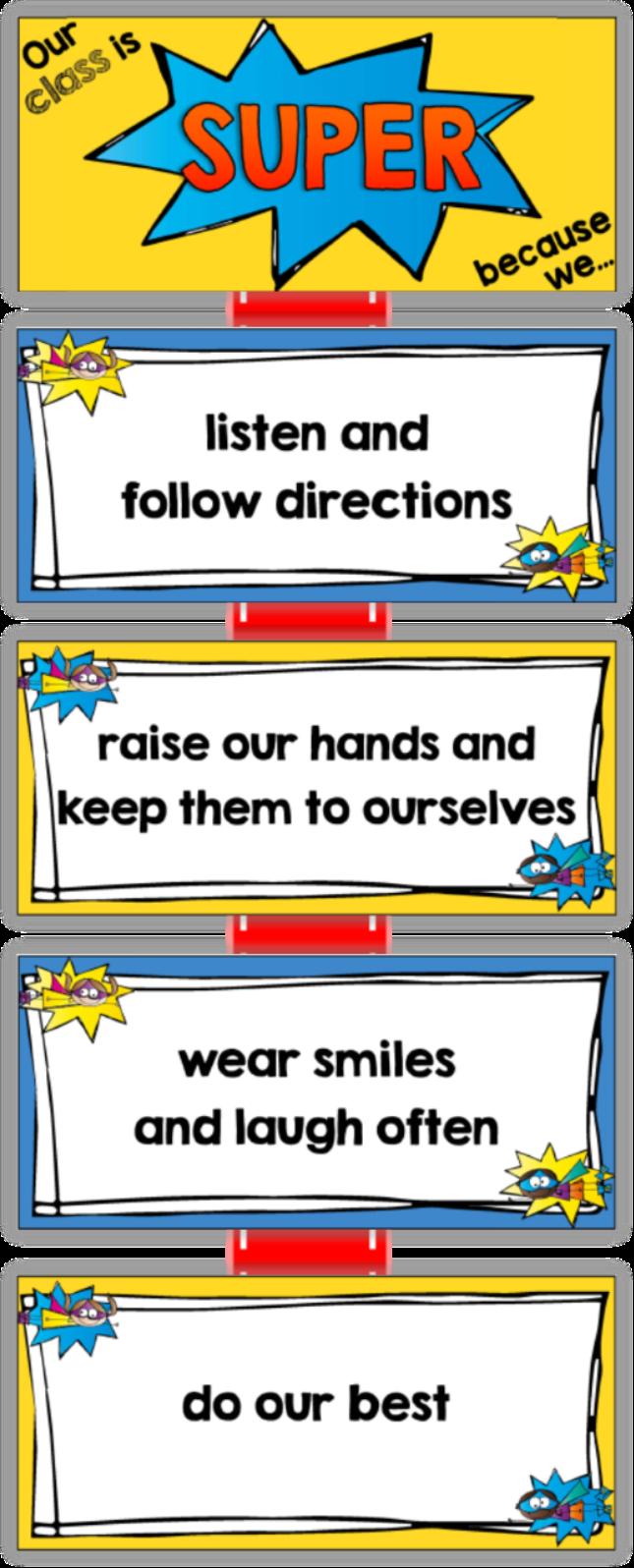 Positive classroom rule