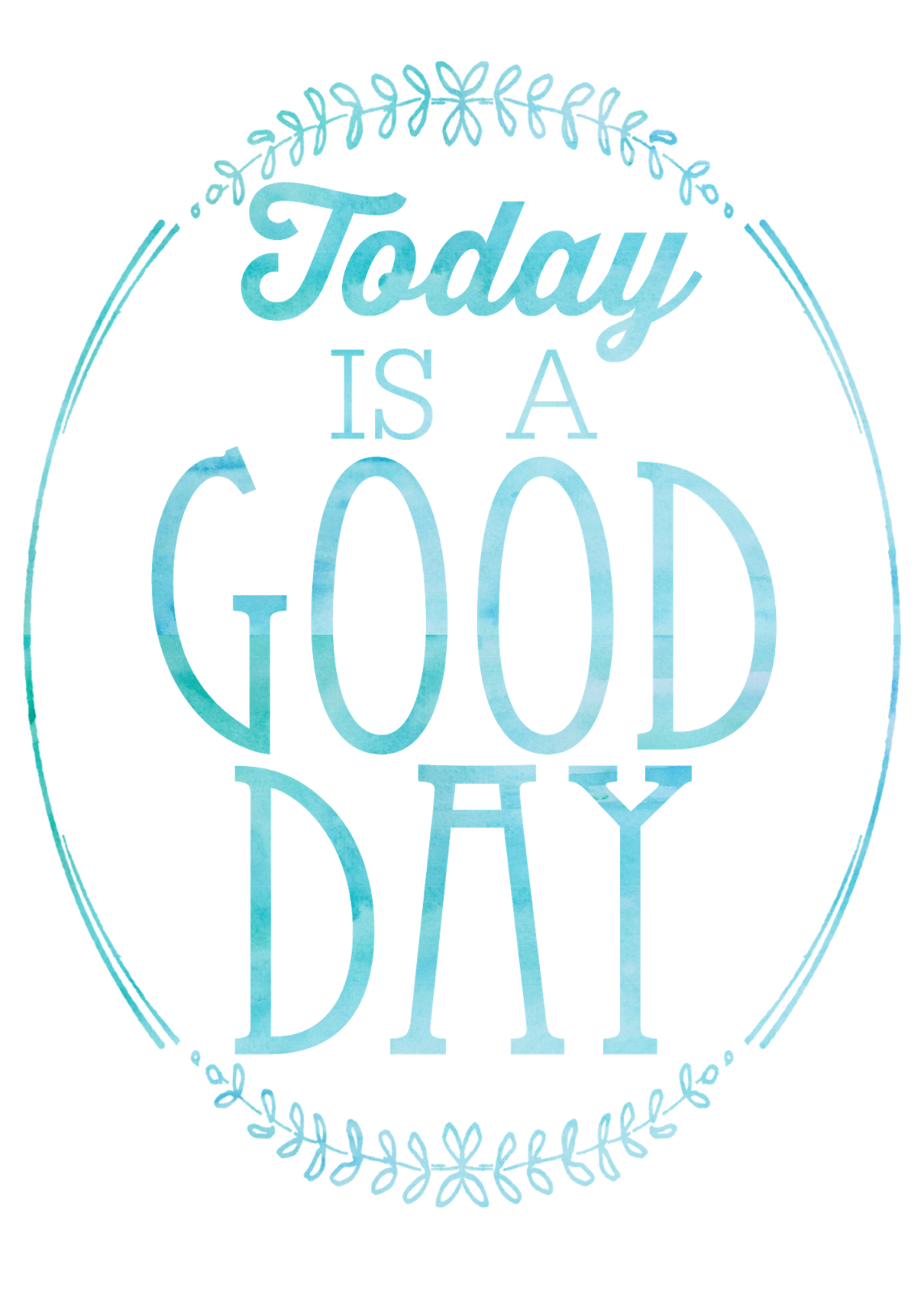 Positive clipart motivational quote. Free today is a