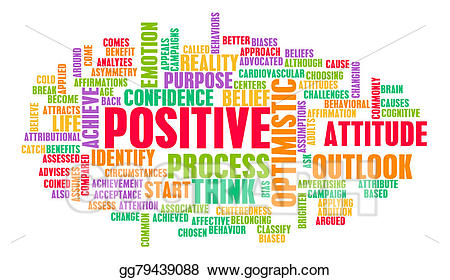 Drawing think or stay. Positive clipart positive change