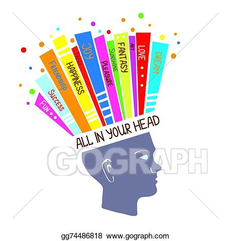 Eps vector concept with. Psychology clipart right attitude