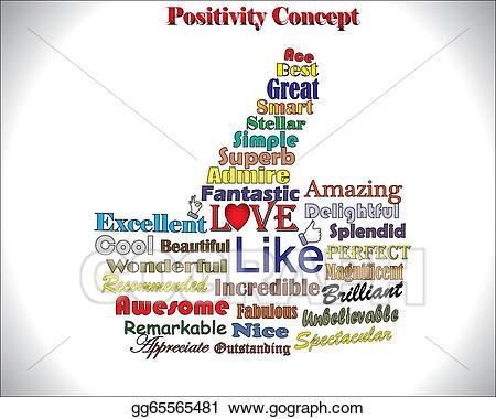 Clip art vector best. Positive clipart positive word