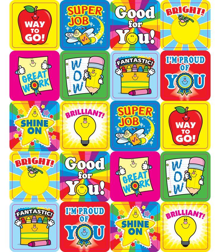 Winning words motivational stickers. Positive clipart teacher motivation