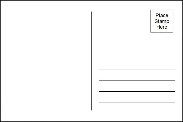 Postcard clipart. Free blank template acur