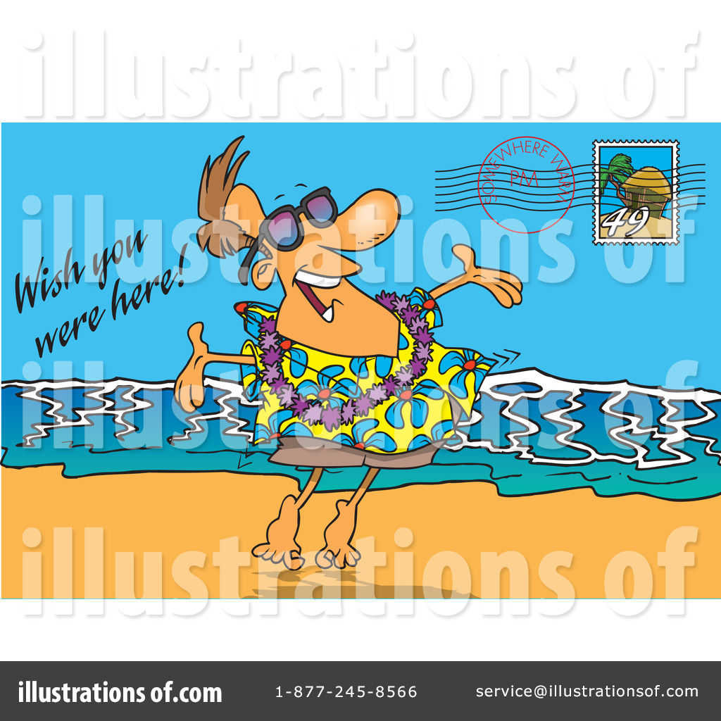 Postcard clipart. Illustration by toonaday royaltyfree