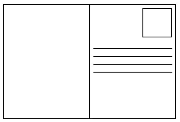 Free blank template acur. Postcard clipart