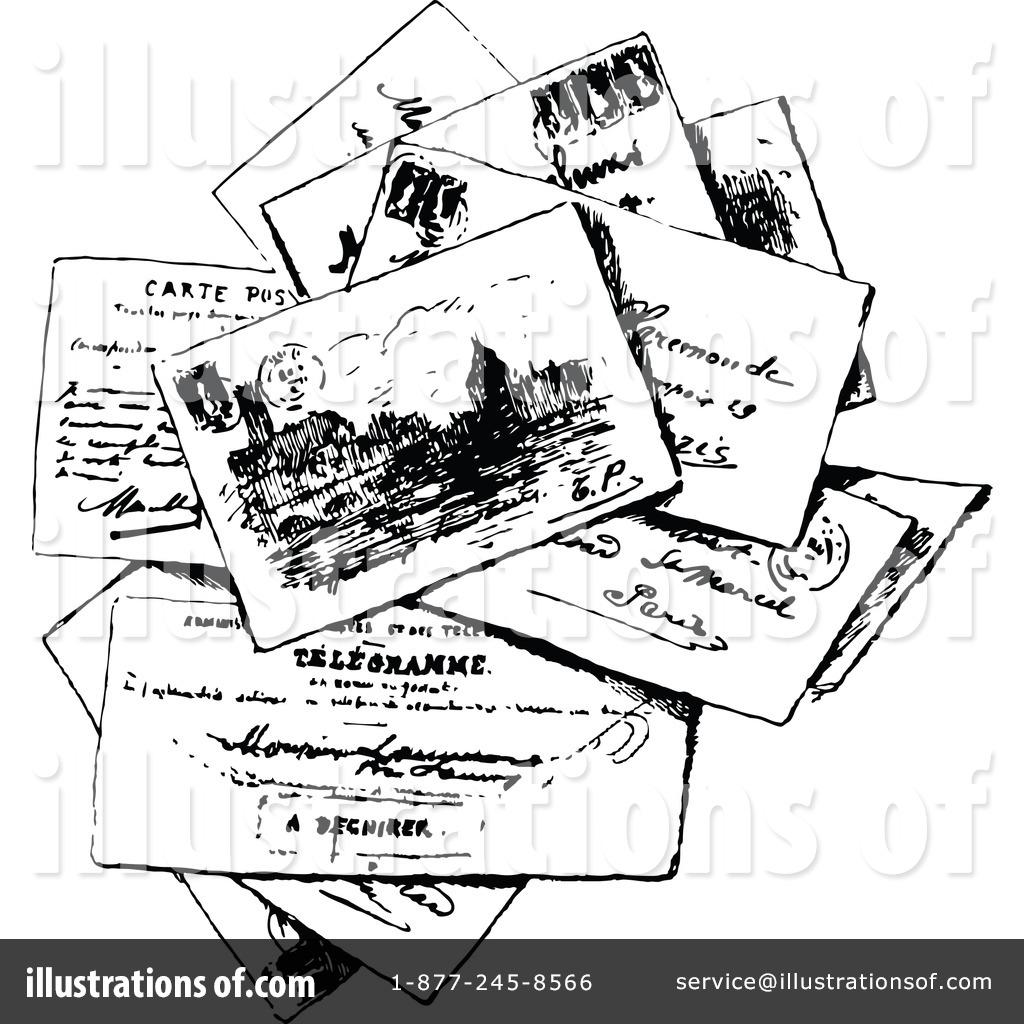 Illustration by prawny vintage. Postcard clipart