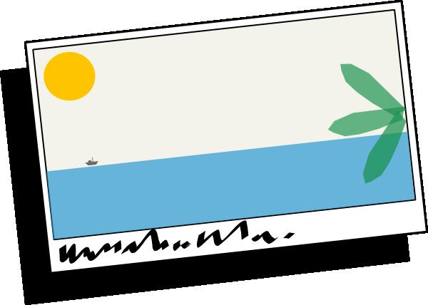 Postcard clipart. Tropical clip art at