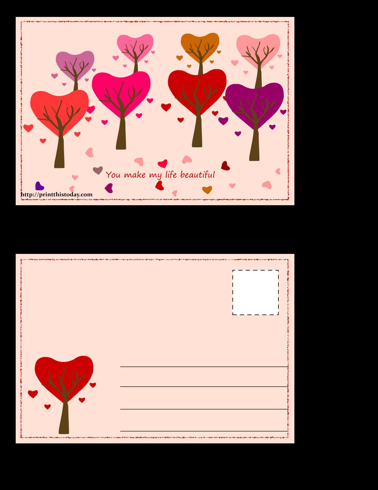 Postcard clipart post card.  free printable love