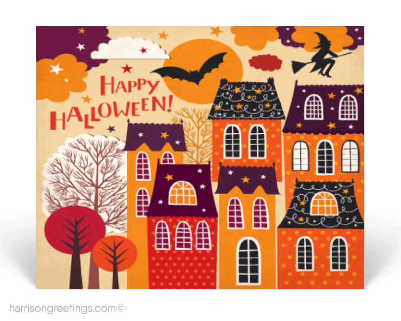 Halloween postcards harrison greetings. Postcard clipart postal