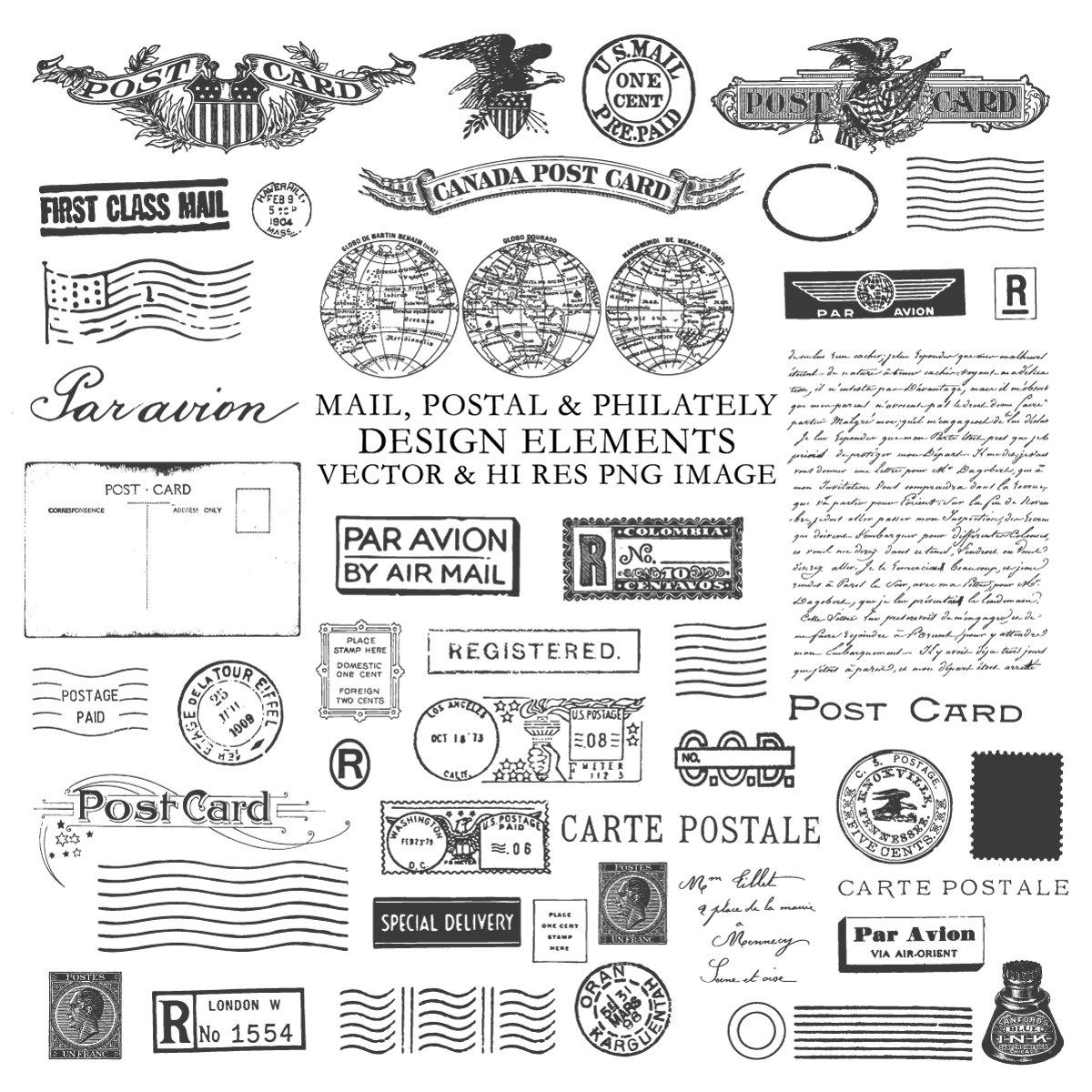 Ciipart post postage ephemera. Postcard clipart postal