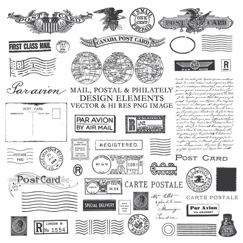 Postcard clipart postal. Ciipart post postage ephemera